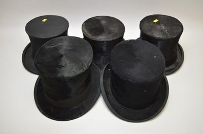 Lot 227 - Five top hats