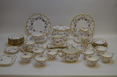 Lot 348 - Royal Crown Derby 'Royal Antionette' tea/coffee/dinner items