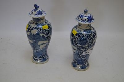 Lot 381 - Chinese blue & white vases