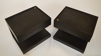 Lot 514 - Andrew Martin: pair bedside tables supplied for an early project by Fiona Barratt Interiors.