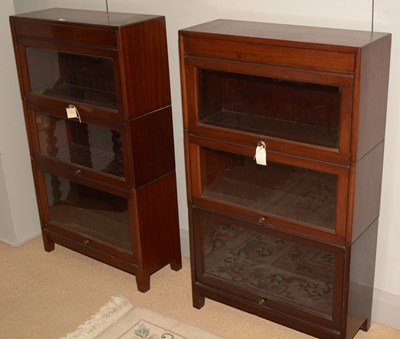 Lot 704 - Pair of Globe Wernicke style bookcases