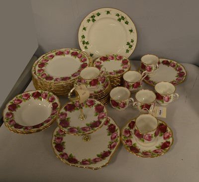 Lot 404 - Royal Albert tea and dinner ware.