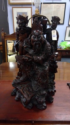 Lot 649 - 20th Century Chinese table lamp