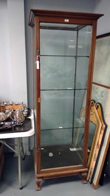 Lot 668 - Edwardian mahogany display cabinet
