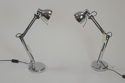 Lot 511 - Pair anglepoise bedside lamps supplied for an early project by Fiona Barratt Interiors.