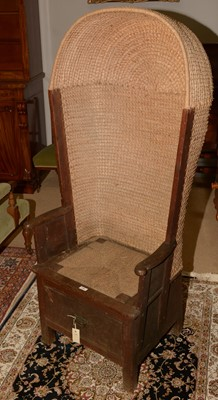 Lot 710 - 19th Century hooded Orkney chair