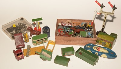 Lot 1109-Lead figures and diecast vehicles.