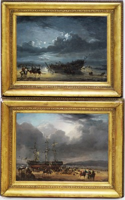 Lot 499 - Manner of Philippe de Loutherbourg - oils.
