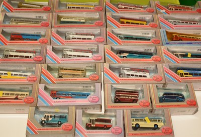 Lot 1307 - Twenty Seven 1:76 scale Exclusive first editions (EFE) diecast model buses, boxed.