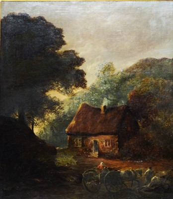 Lot 387 - Attributed to Erskine Nicol - oil.