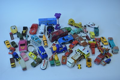 Lot 1114-Dinky, Lesney, Matchbox, Corgi, Tonka and other vehicles, all unboxed.