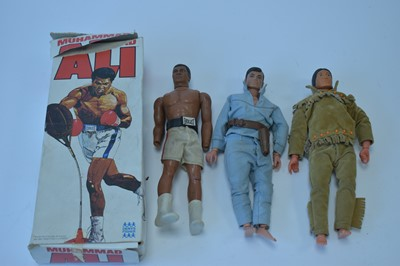 Lot 1116-A Denys Fisher Muhammad Ali boxing toy; and 'Lone Ranger' Action Figures by Gabriel