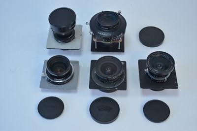 Lot 784-MPP large-format lenses.
