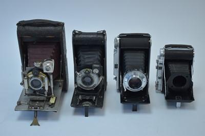 Lot 803-A Voigtländer Bessa and three other folding cameras.