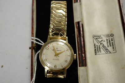 Lot 185A - Smiths Imperial gold cased wristwatch