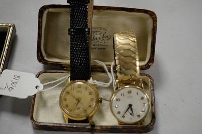 Lot 186A - Smiths De Luxe gold cased wristwatch and another