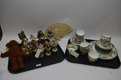 Lot 221 - Large selection of miscellaneous ceramic figures and part service.