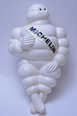 Lot 154 - A plastic vintage Michelin Man figure on stand.