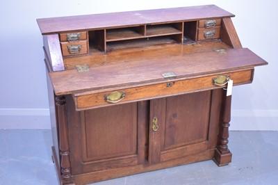 Lot 492 - Victorian bureau desk.