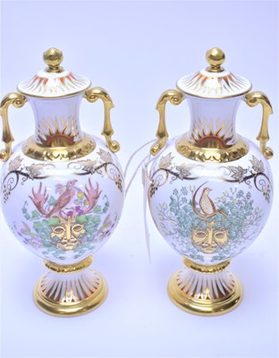 Lot 176 - Two Royal Crown Derby vases.
