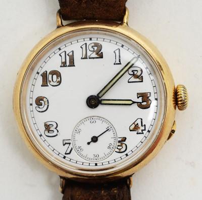 Lot 88 - Stauffer & Co 18ct gold cased wristwatch