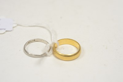 Lot 14 - Two wedding bands.