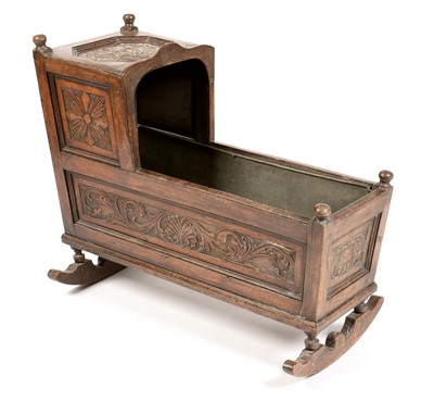 Lot 837 - 17th Century oak cradle