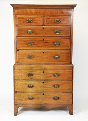 Lot 430 - George III mahogany chest on chest