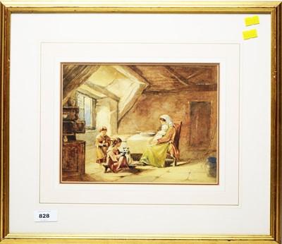 Lot 828 - 19th Century British School - watercolour.