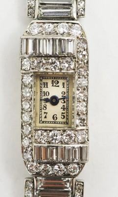 Lot 84 - Marc Favre diamond cocktail watch