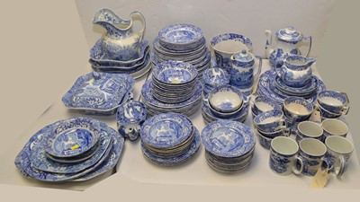 Lot 390 - Large quantity of Spode Italian blue and white items.