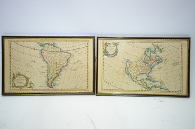 Lot 353 - After Gilles Robert de Vaugondy - maps of North and South America.