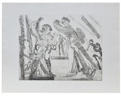 Lot 182 - Anthony Gross - etching.