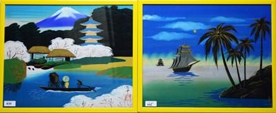 Lot 835 - 20th Century Japanese School - watercolours