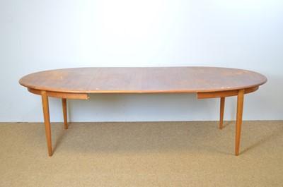 Lot 471 - Gudme Mobelfabrik teak oval extending dining table.