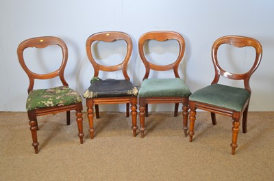 Lot 478 - Four Victorian dining chairs.