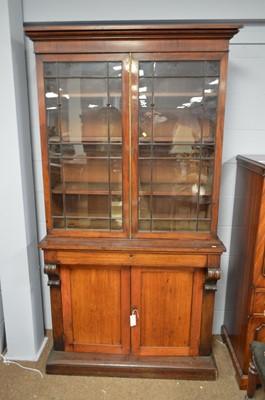 Lot 558 - An early 19th C mahogany display cabinet.