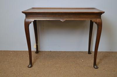 Lot 426 - Mahogany side table 18th C.