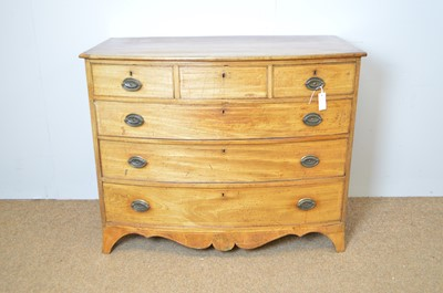 Lot 434 - Georgian mahogany and banded chest of drawers.