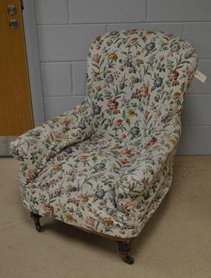 Lot 541 - A Victorian easy armchair.