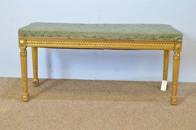 Lot 501 - Kimbel & Friederichsen, Berlin: rectangular giltwood stool.