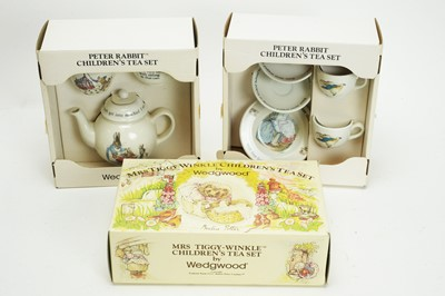 Lot 998 - Wedgwood, England: Beatrix Potter pattern children's tea china; and Peter Rabbit tea sets.