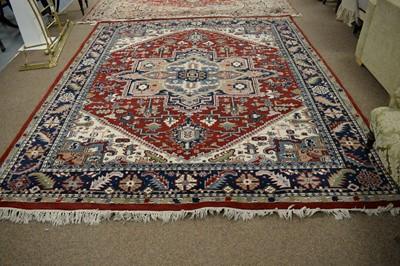 Lot 141 - Indian Heriz style carpet.