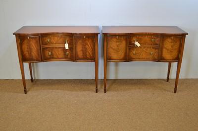 Lot 460 - Reprodux: pair of mahogany side cabinets.