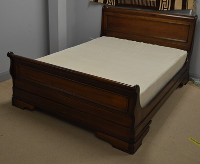 Lot 542 - Modern double sleigh bed.