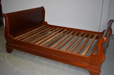 Lot 544 - 20th Century sleigh bed