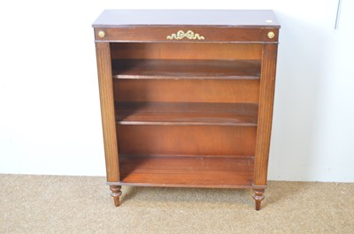 Lot 8 - Victorian-style mahogany open bookcase.