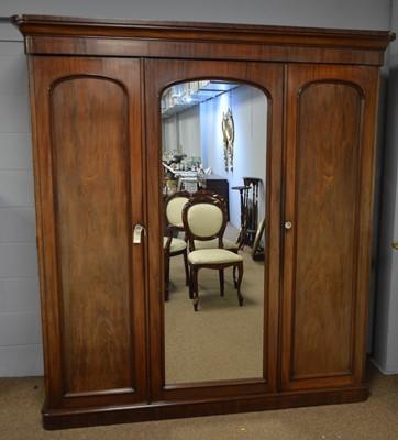 Lot 560 - A Victorian mahogany wardrobe.