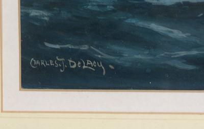 Lot 309 - Charles de Lacy - watercolour.