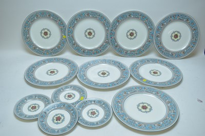 Lot 334 - Wedgwood 'Florentine' dinner and side plates.